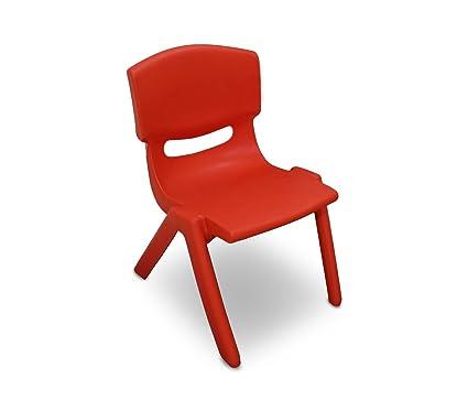 MEDIA WAVE store 173710 Silla de plástico Resistente para niños 26x30x50 cm - Rojo