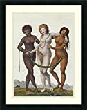 Framed Art Print 'Europe Supported By Africa and America' by William Blake