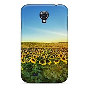 Premium Galaxy S4 Case - Protective Skin - High Quality For Sunflowers At Sunset