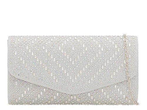 Haute Diamante Ladies Champagne For Bag Haute For Silver Diva Diva Ladies Clutch rY0RwAr