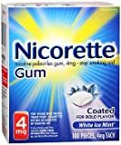 Nicorette 4mg Coated White Ice Mint - 100 ct, Pack of 2