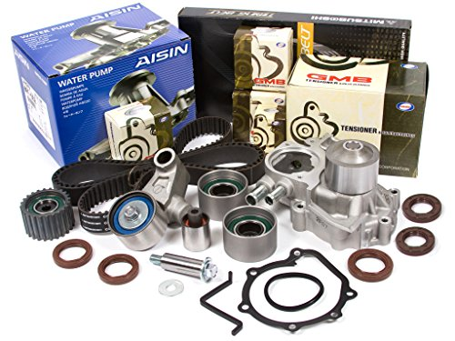 Evergreen TBK328MWPA Fits 02-05 Subaru Impreza WRX Turbo 2.0 DOHC EJ205 Timing Belt Kit AISIN Water - Turbo Subaru Wrx Impreza
