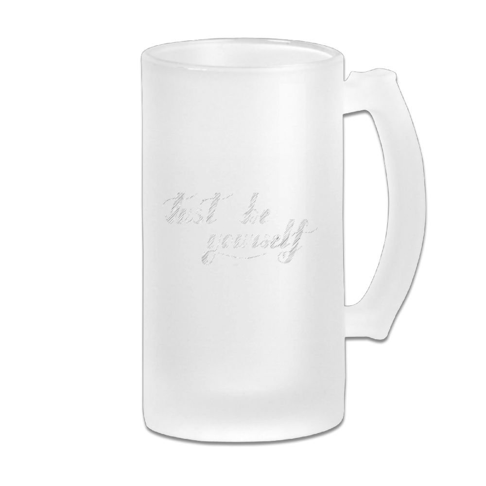 WSXEDC Just Be Yourself Beer Glass Mug Personalized Mug Thick Glass Mug Great For Pub Bars Restaurants 16 Ounce