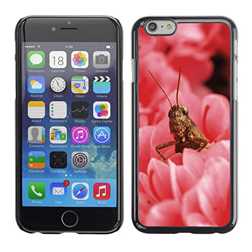 Premio Sottile Slim Cassa Custodia Case Cover Shell // V00003364 sauterelle parmi les fleurs // Apple iPhone 6 6S 6G PLUS 5.5""