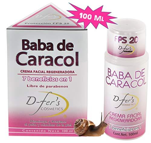 Crema Facial Regeneradora, Baba de Caracol (Grande 100 ml) D Fers Cosmetics