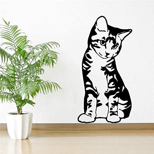 ONETOTOP Gatito Gato felino Sentado Sentado Vinilo Arte de la ...