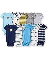 Gerber Baby Boys' 10-Pack Short-Sleeve...