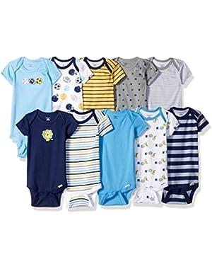Gerber Baby Boys' 10 Pack Variety Onesies