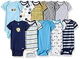 Gerber Baby Boys' 10 Pack Onesies Bundle, Sport/Safari, 0-3 Months
