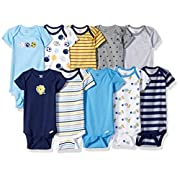Gerber Baby Boys' 10 Pack Onesies Bundle, Sport/Safari, 3-6 Months