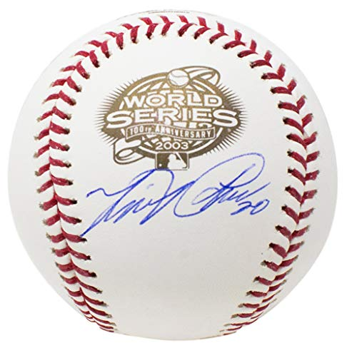Miguel Cabrera Detroit Tigers Signed 2003 World Series MLB Baseball w/Free Ball Cube - Tigers Signed Detroit Hand Mlb