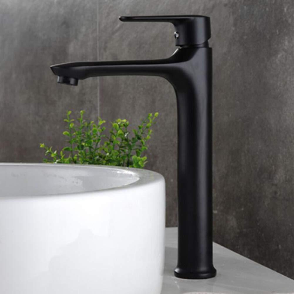 Sanlingo Schwenkbar Waschtischarmatur Waschschale Einhebel Schwarz Brüniert