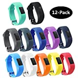 TECKMICO 12PCS Colorful Bands For Garmin Vivofit 3,Garmin...