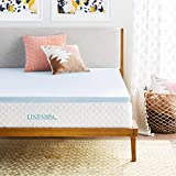Mattress Topper Linenspa 2 Inch Gel Infused Memory Foam Mattress Topper, Full