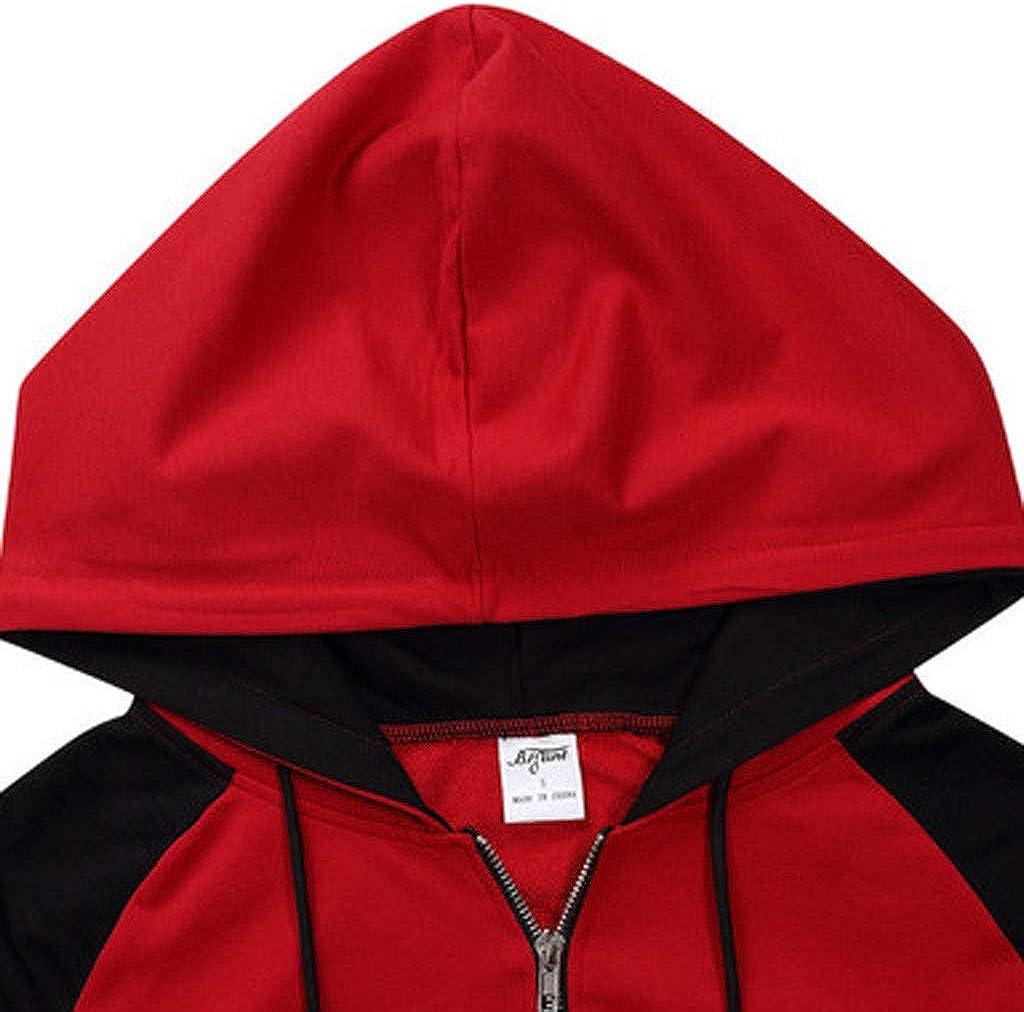 Siviki Men Hoodie,Plaid Printing Blouse Double Pockets Splice Zip Up Round Neck Sweater Halloween Long Sleeve