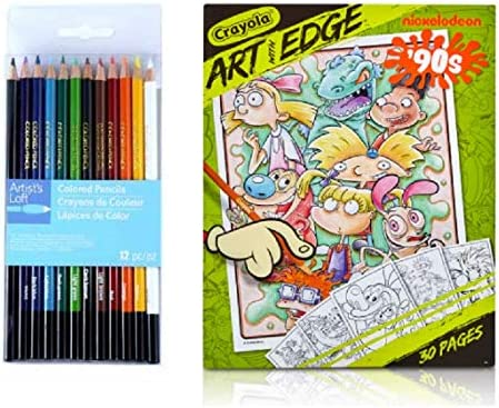 90's Cartoon Nickelodeon Adult Coloring Book With Colored Pencils Gift Set  Hey Arnold, Rugrats, Catdog And More: Amazon.ca: Home & Kitchen