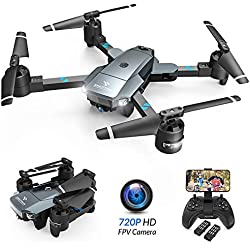 SNAPTAIN A15 Foldable FPV WiFi Drone w/Voice Control/120°Wide-Angle 720P HD Camera