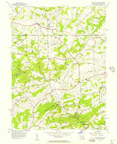 YellowMaps Fawn Grove PA topo map, 1:24000 Scale, 7.5 X 7.5 Minute, Historical, 1956, Updated 1957, 26.8 x 21.9 in - Polypropylene (Pa Grove Forest)