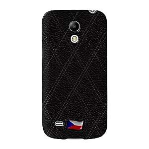Elegante Funda de piel de bandera de República Checa–Bandera de Checoslovaquia Full Wrap Case Impreso en 3d gran calidad, Snap-on Cover para Samsung Galaxy S4Mini Por UltraFlags