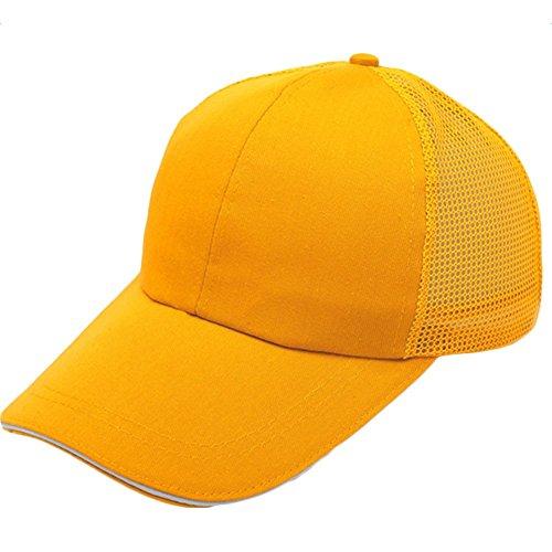 Unidad Amarillo y Negro Transpirable de 55 Algodón 1 Mackur Unisex Ajustable para 60CM Sombrero Exteriores Béisbol Cómodo AxqSP