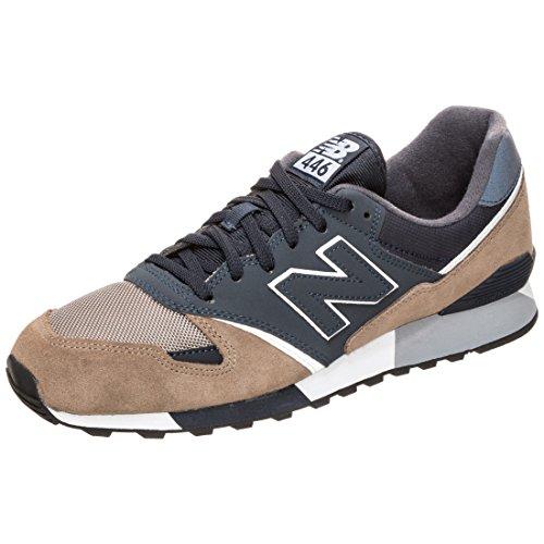 New Balance U446v1, Sneaker Unisex – Adulto Dunkelblau / Braun