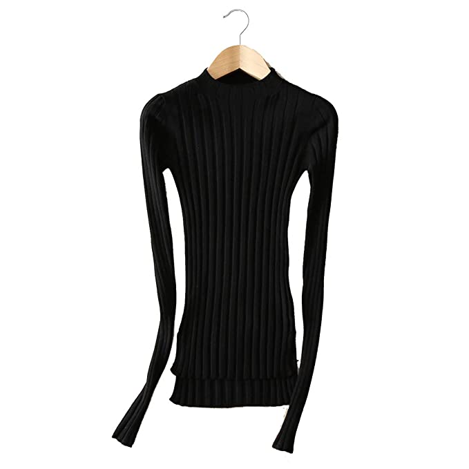 fbd31a255e68 YISHI Women s Sweater Fashion Tops Elegant Bottoming Shirt Ribbed ...