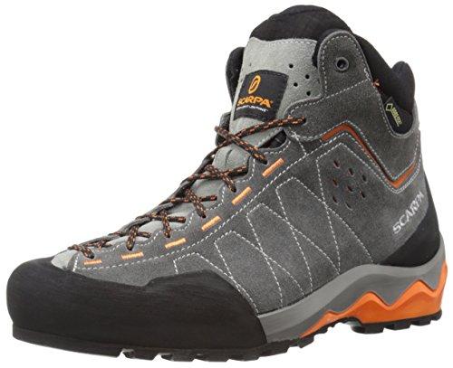 Price comparison product image Scarpa Men's Tech Ascent GTX Approach Shoe, Shark/Tonic, 45 EU/11.5 M US