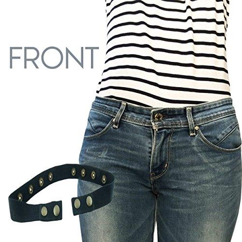 Sister Selected Invisible Belt No Show Belt Half Belt Lays Flat Under Black Fitted Adjustable Snap Belt for Women, Maternity, Elderly Person, Patient. (Black) - Maytag Washer Dryer Clip