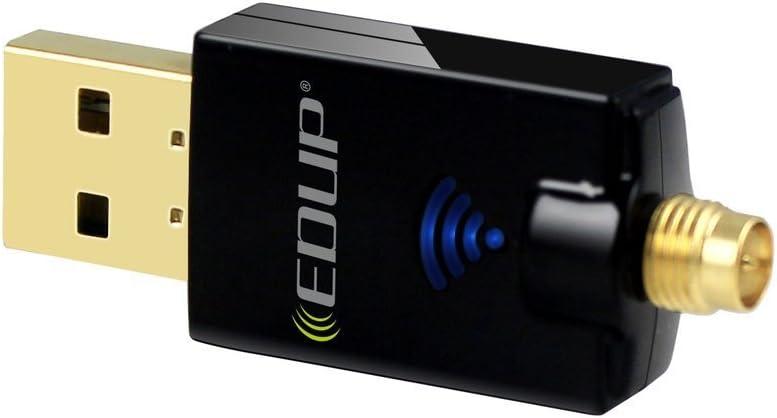 5GHz Wireless USB Adapter Empf/änger Free Driver Plug /& Play WiFi Dongle f/ür PC//Laptop unterst/ützt Windows 10//8.1//7//Vista Mac OS X EDUP WLAN Adapter USB WiFi Stick 600Mbits Dual Band 2.4GHz