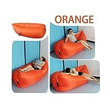 ZALA 2nd Generation Outdoor Inflatable Furniture Sleeping Air Bag Nylon Fabric Beach Lounger Convenient Compression Air Bag ,Hangout Bean Bag Portable Dream Chair