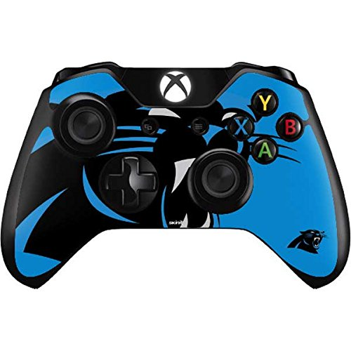 Skinit NFL Carolina Panthers Xbox One Controller Skin - Carolina Panthers Large Logo Design - Ultra Thin, Lightweight Vinyl Decal Protection by Skinit