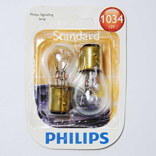 Philips 1034 - 12.8V S8 BAY15d base Automotive Light Bulb - 2 pk (12.8v Bulb Automotive)