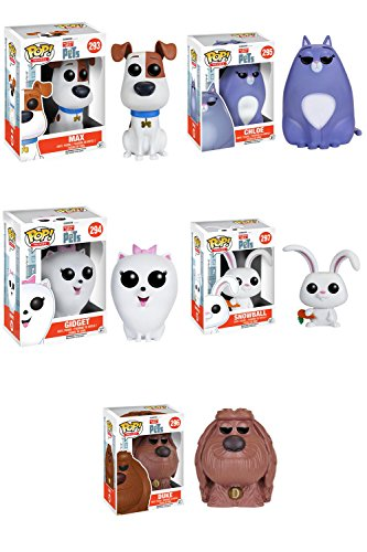 The Secret Life of Pets Max, Chloe, Gidget, Snowball, Duke Pop! Vinyl Figures Set of 5