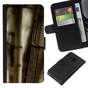 KingStore / Leather Etui en cuir / HTC One M7 / Planta Naturaleza Forrest Flor 101