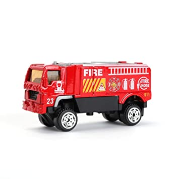 Amazon Com Mini Car Toy Mini Rescue Fire Engine Emergency Truck