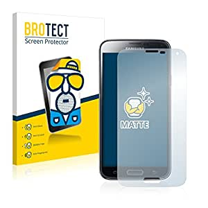 2x BROTECT Matte Protector Pantalla para Samsung Galaxy S5 SM-G900I SM-G900F Protector Mate, Película Antireflejos