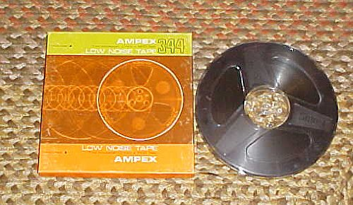 Ampex 344 Reel to Reel Tape 7 Inch Reel Low Noise Recordable Tape