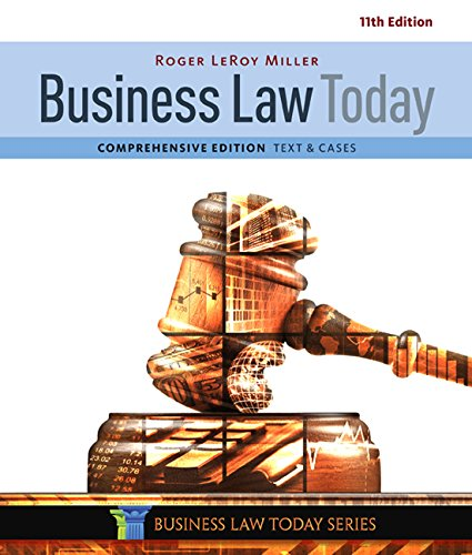 Business Law Today, Comprehensive cover