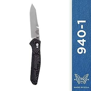 Benchmade - 940-1 Knife, Plain Reverse Tanto, Carbon Fiber Handle