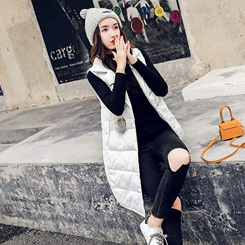 cotone con invernale imbottito Donna donna Amuster Collo lungo Gilet di pelliccia per medio Tuta cappuccio in invernale nzttf67