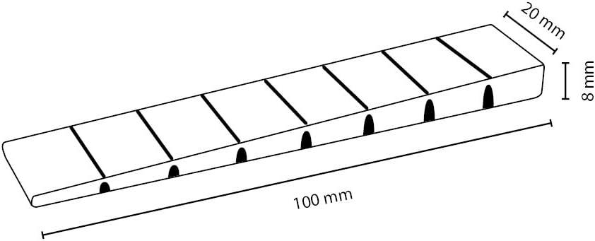 Beige Sossai/® MKB-100 100 x M/öbelkeile//Unterlegkeile//Ausgleichskeile aus Kunststoff mit integrierten Soll-Bruchstellen Farbe