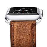 Benuo Watch Band for Apple Watch Series 4, 40mm 38mm Premium Genuine Leather Strap Classic Replacement Band with Secure Buckle Adapter for iWatch Series 4 3 2 1 (Brown)
