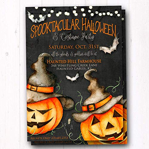 Halloween Party Invitations - Costume Party Invites - Trunk or Treat Invitation - Kids Trick or Treat - Set of 20 Invites -