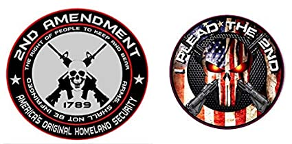 2nd Amendment Original Homeland Security Biker Helmet Motorcycle Decal Sticker