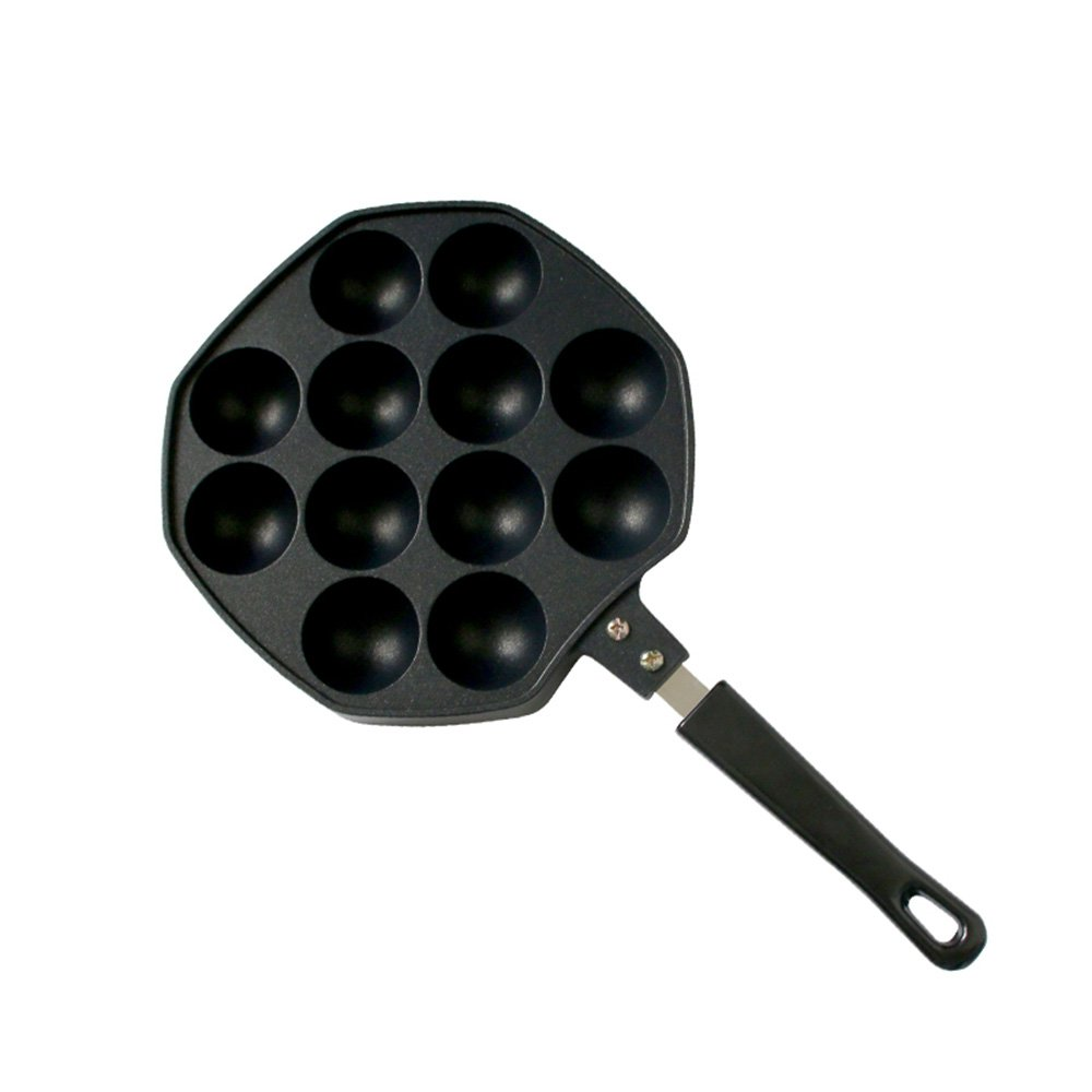 Kxtffeect 12 Holes Takoyaki Pan, Nonstick Cast Aluminum Alloy Baking Tray Mold Baking Plate Pan