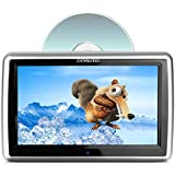 Headrest DVD Player Touch Screen Multimedia Player Automatic Insertion Drive Supports CPRM DVD SD USB 1080P Video 10.1 Inch(Black - Second Version)
