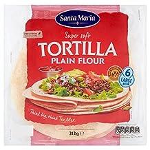 Santa Maria Lg Plain Flour Tortilla 6 per pack