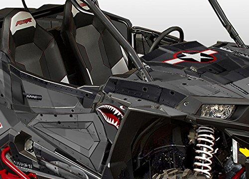 Polaris RZR 1000 Graphics Kit - War Machine - Black Background, Dark Grey Design