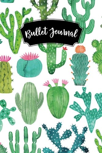 Download Bullet Journal: Cactus Pink Flowers 160 Dot Grid Journaling Pages, 6 x 9 Blank Notebook with 1/4 inch Dotted Paper, Perfect Bound Softcover pdf epub