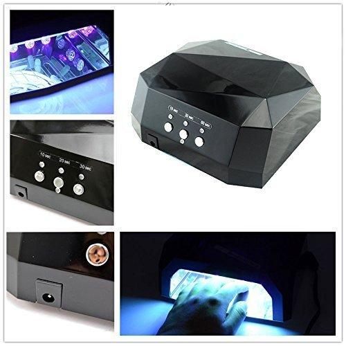ブリリアント豊富なラインGearmax®CCFL&LED ライト 36W ハイパワー ネイルライト ブラック